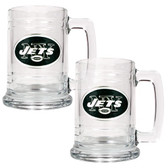 New York Jets 2pc Glass Tankard Set