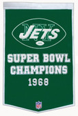 "New York Jets 24""x36"" Wool Dynasty Banner"