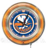 New York Islanders Neon Clock