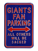 New York Giants Violaters will be Sacked Parking Sign