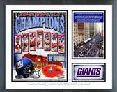 New York Giants Super Bowl XLVI Champions Milestones & Memories Framed Photo