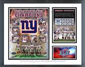New York Giants Super Bowl XLII Champions Milestones & Memories Framed Photo