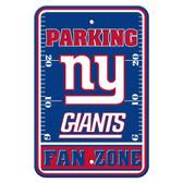 New York Giants Plastic Parking Sign - Fan Zone