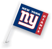 New York Giants Car Flag w/Wall Bracket Set Of 2