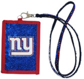 New York Giants Beaded Lanyard Wallet