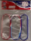 New York Giants 3 Pack Wristband Set