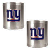 New York Giants 2pc Stainless Steel Can Holder Set