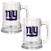 New York Giants 2pc Glass Tankard Set