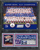 New York Giants 2011 Team Plaque
