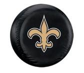 New Orleans Saints Black Logo Tire Cover - Size Large