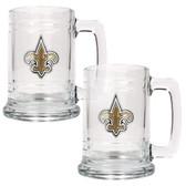 New Orleans Saints 2pc Glass Tankard Set GTGT2014-7