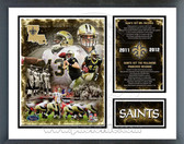 New Orleans Saints 2011 Record Setting Milestones & Memories Framed Photo