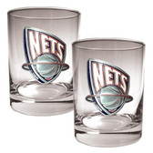 New Jersey Nets Rocks Glass Set