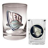 New Jersey Nets Rocks and Shot Glass Set