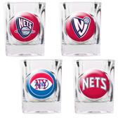 New Jersey Nets 4pc Square Shot Glass Set