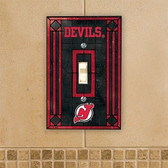 New Jersey Devils Art Glass Switch Cover