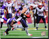 New England Patriots Julian Edelman 2014 Action 40x50 Stretched Canvas