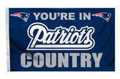 New England Patriots 3'x5' Country Design Flag