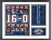 New England Patriots 2007 16-0 Undefeated Season Milestones & Memories Framed Photo