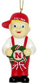 Nebraska Cornhuskers Mascot Wreath Ornament