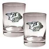 Nashville Predators 2pc Rocks Glass Set - Primary Logo