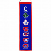 "Montreal Canadiens Wool 8""x32"" Heritage Banner"