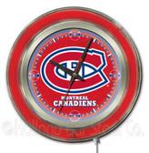 Montreal Canadiens Neon Clock