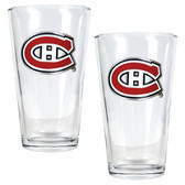 Montreal Canadiens 2pc Pint Ale Glass Set