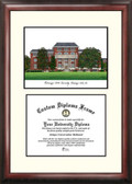 Mississippi State University Scholar Framed Lithograph with Diploma