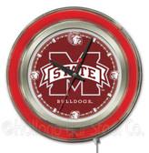 Mississippi State Bulldogs Neon Clock