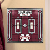 Mississippi State Bulldogs Double Lightswitch Cover