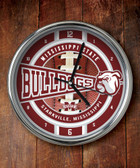 Mississippi State Bulldogs Chrome Clock