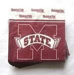 Mississippi State Bulldogs Beverage Napkins