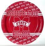 "Mississippi State Bulldogs 9"" Dinner Paper Plates"