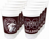 Mississippi State Bulldogs 16 oz. Cups