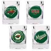 Minnesota Wild 4pc Square Shot Glass Set
