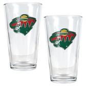 Minnesota Wild 2pc Pint Ale Glass Set