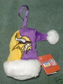Minnesota Vikings Santa Hat Ornament