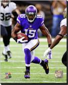 Minnesota Vikings Greg Jennings 2014 Action 16x20 Stretched Canvas