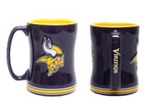 Minnesota Vikings Coffee Mug - 15oz Sculpted 4675729269
