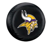 Minnesota Vikings Black Tire Cover - Size Large