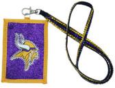 Minnesota Vikings Beaded Lanyard Wallet