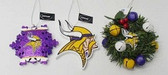 Minnesota Vikings 3 Piece Christmas Ornament Box Set