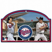 Minnesota Twins Wood Sign - Joe Mauer & Justin Morneau