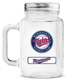 Minnesota Twins Mason Jar Glass With Lid
