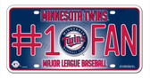 Minnesota Twins License Plate - #1 Fan