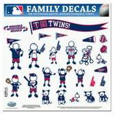 "Minnesota Twins 11""x11"" Family Decal Sheet"