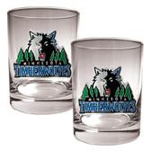 Minnesota Timberwolves Rocks Glass Set