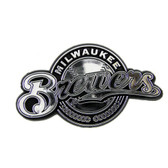 Milwaukee Brewers Silver Auto Emblem