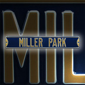 Milwaukee Brewers Miller park Street Sign
